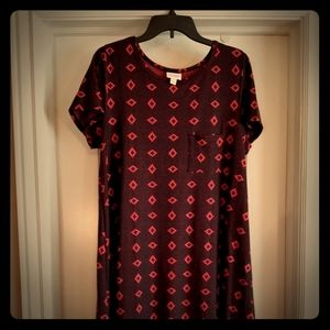 Lularoe jacquard knit Carly dress